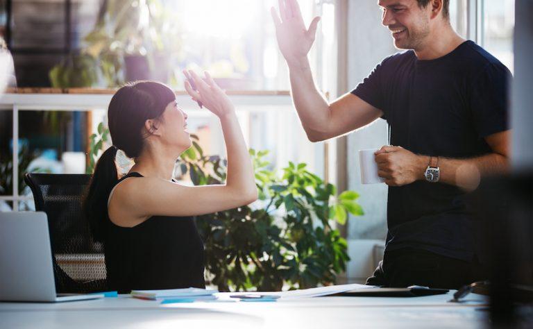 customer engaging with brand via mobile