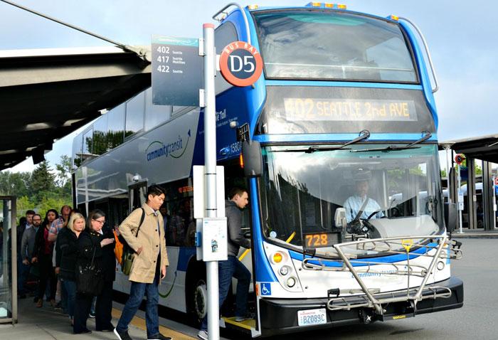 community transit bus boarding