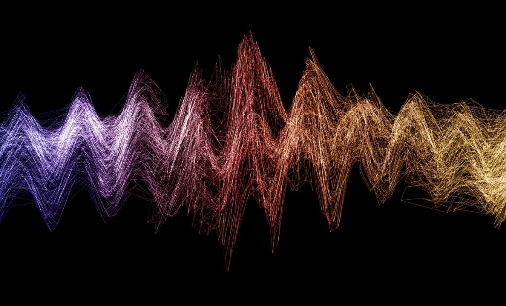 abstract soundwaves demonstrating tuning into emotions with customer sentiment analysis